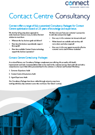 Contact Centre Consultancy brochure