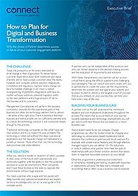 How to Plan for Digital and Business Transformation
