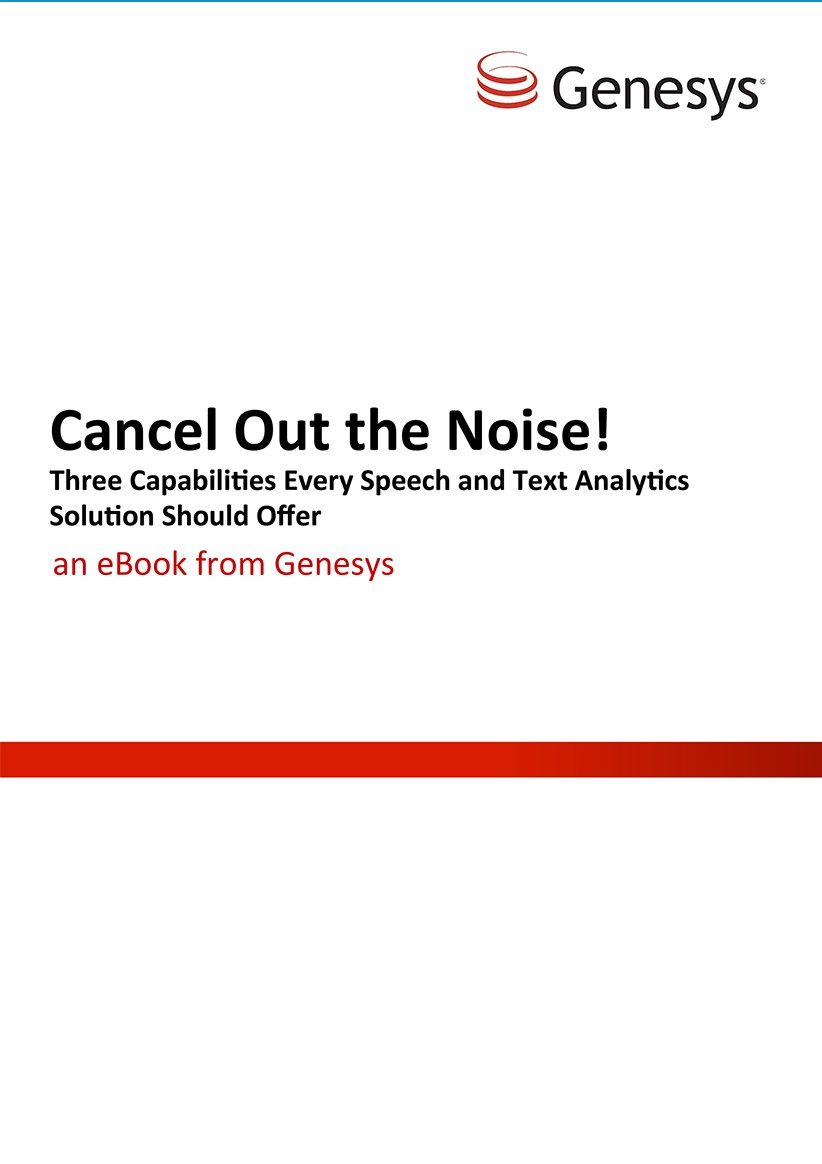 Genesys - Cancel Out the Noise
