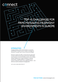 White Paper for Top 10 Challenges Firms Face Managing Telephony Environments in Europe